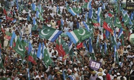 Anti-drone protest in Pakistan