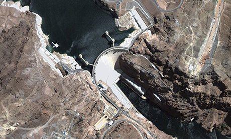 Satellite Image of Hoover Dam