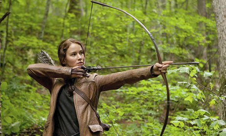 Jennifer Lawrence as Katniss Everdeen in The Hunger Games