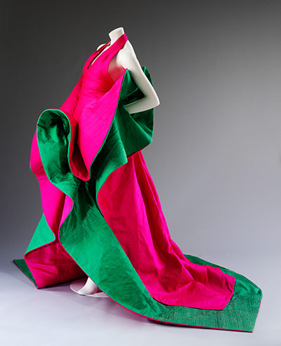 V&A: Italian fashion: Roberto Capucci evening dress