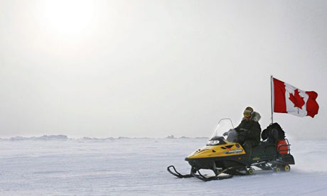 A Canadian ranger making a patrol on Ellesmere Island, part of the country's existing Arctic land.