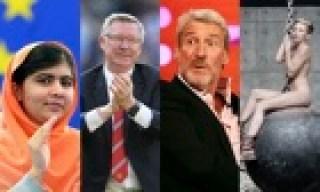 Malala Yousafzai, Alex Ferguson, Jeremy Paxman, Miley Cyrus