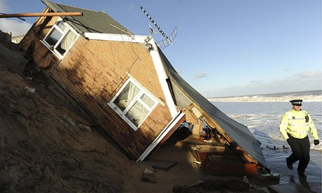 House collapsed into sea, Norfolk