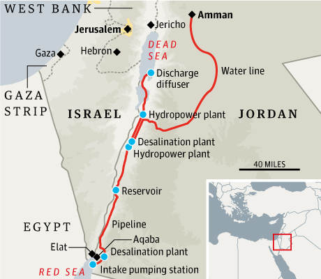 Middle East Map Dead Sea.Blue Peace Red Sea Dead Sea Pipeline Plan Signed Conflicts By Ari