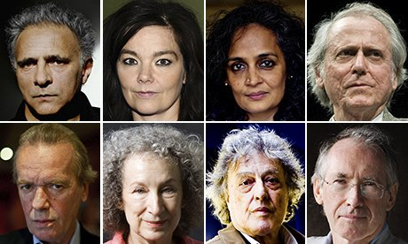 Author composite including Tom Stoppard