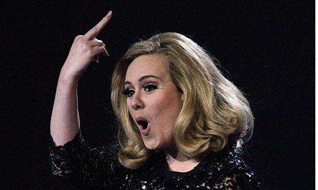 Adele at Brit awards 2012