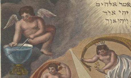 Putto demonstrates refraction