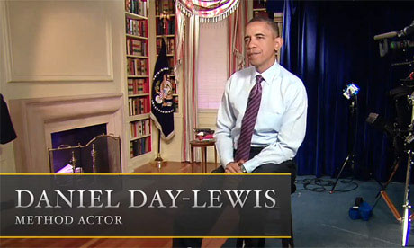 Barack Obama as Daniel Day-Lewis (caption)