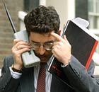 1990 mobile phone user