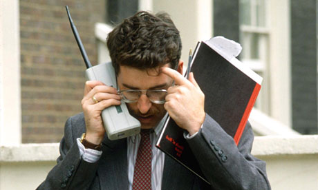 1990 mobile phone user