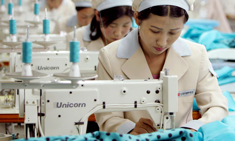 North Korean workers at the South-owned Shinwon clothes company in Kaesong industrial park