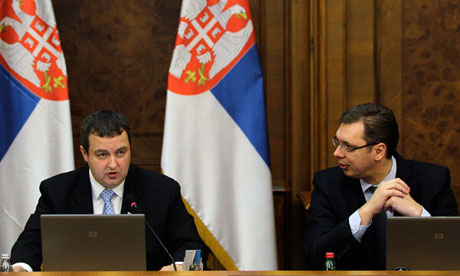 Serbian Prime Minister and Interior Minister Ivica Dacic