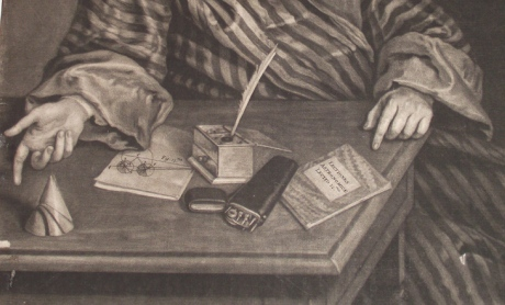 Detail from of a portrait of Thomas Weston