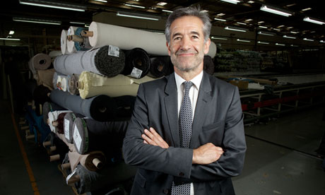 Bringing jobs back home: DFS chief executive Ian Filby at the furniture manufacturer's production fa