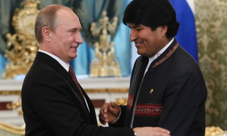 Putin and Morales met on Tuesday.