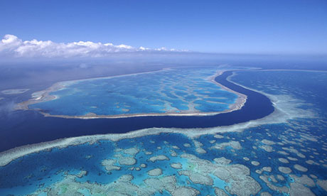 The US military said four unarmed bombs were dropped in the Great Barrier Reef marine park
