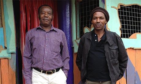DK Mwai and Emmanuel Mwendwa in May 2013