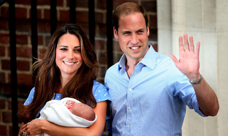 Kate and William with the royal baby
