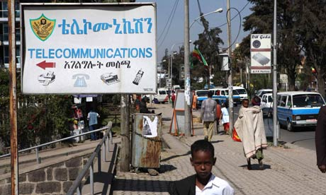 A telecommunications station in Addis Ababa, Ethiopia