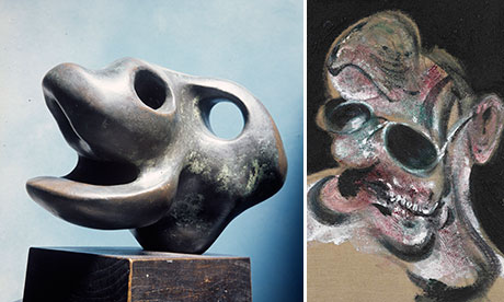 Henry Moore and Francis Bacon composite