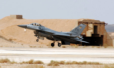 US warplane F-16 Fighting Falcon aircraft