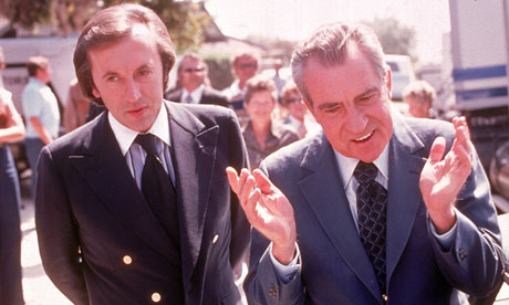 David Frost and Richard Nixon in 1977