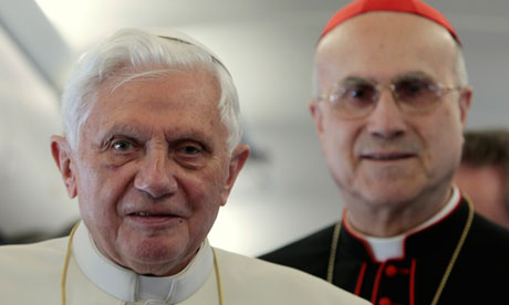 Pope Benedict XVI, and  Tarcisio Bertone