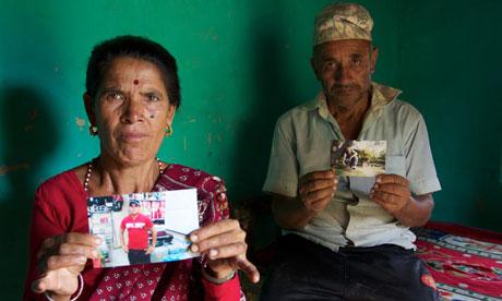 grieving parents Nepal