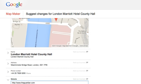 Google+ Local hijack