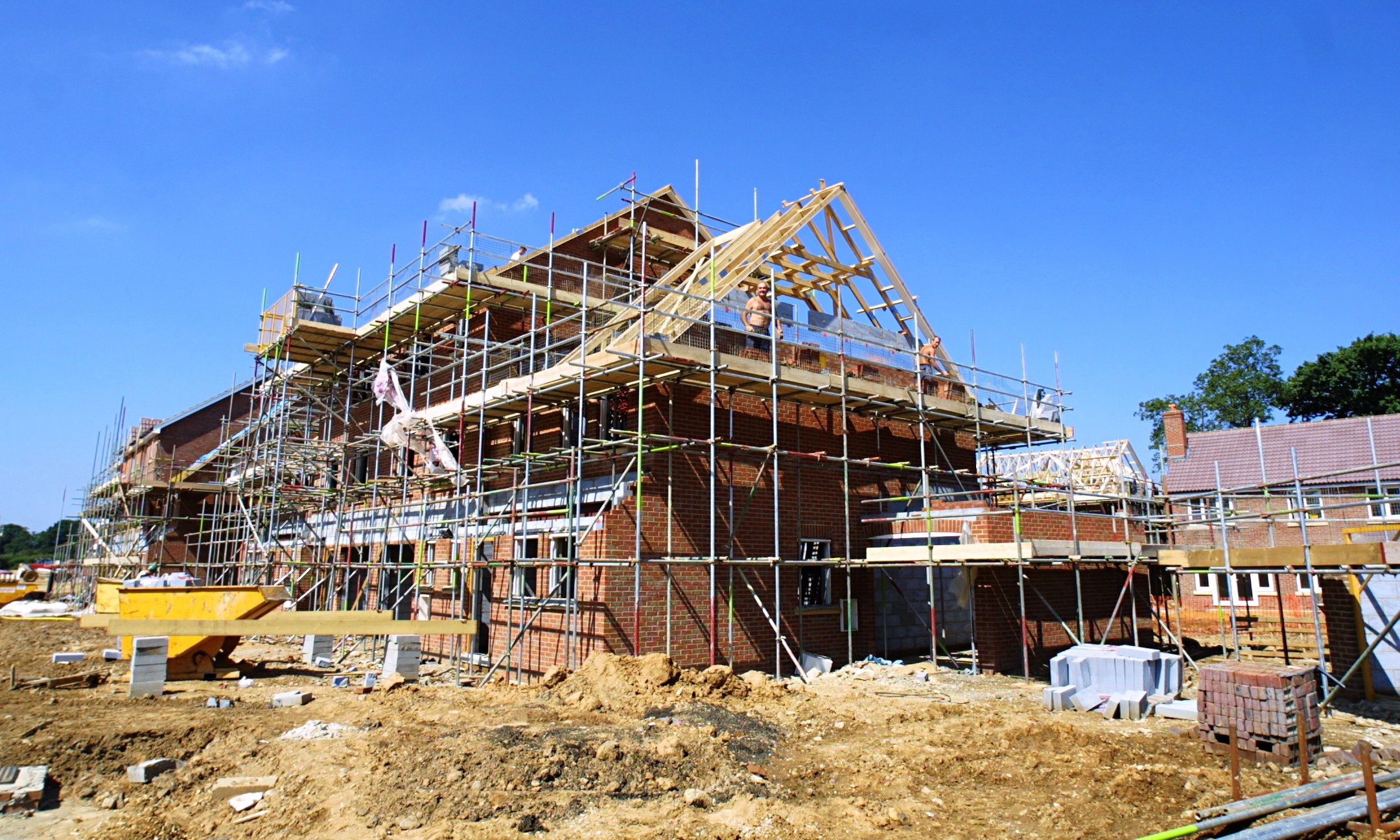 Housebuilding falls for first time in 18 months ONS says  Business  The Guardian