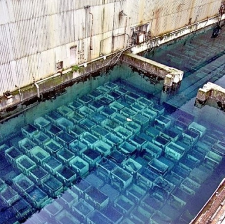 The storage ponds at Sellafield, as shown in this photograph sent to The Ecologist, have been called 'disgracefully degraded' by the executive director of the Institute for Resource and Security Studies.