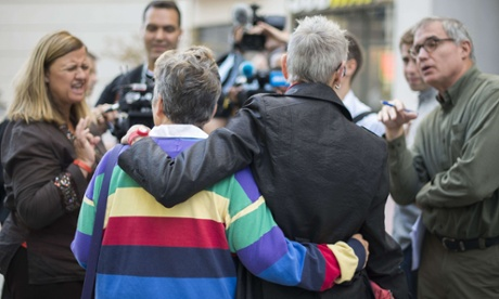 Gay marriage supporters celebrate in Virginia.