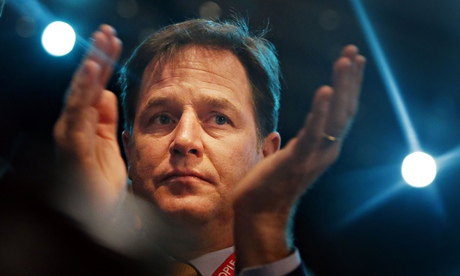 Nick Clegg at the Liberal Democrat conference in Glasgow.