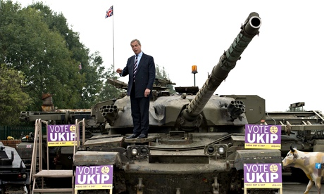Nigel Farage, leader of the UK Independe