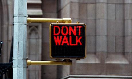 Don't walk sign, US