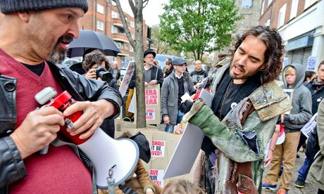 Russell Brand At Protest To Save Social Housing