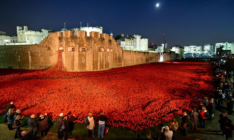 Poppies at the Tower of London: Blood Swept Lands and Seas of Red, 30 October 2014.