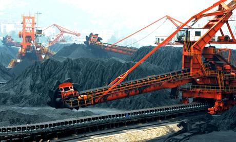 Piles of coal in China