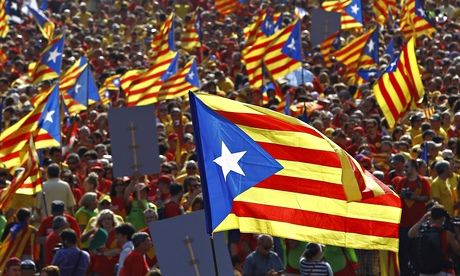 Pro-independence demonstration in Barcelona in September. Photograph: Quique Garcia/AFP/Getty Images