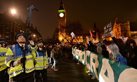 Occupy protesters in Parliament Square