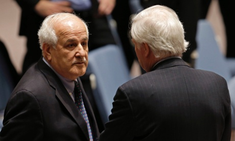Palestinian ambassador to UN Riyad Mansour