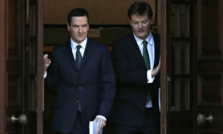 Chancellor George Osborne and chief secretary of the Treasury Danny Alexander