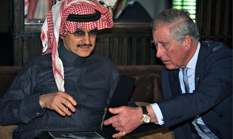 Prince Charles in Riyadh with Prince al-Waleed bin Tala