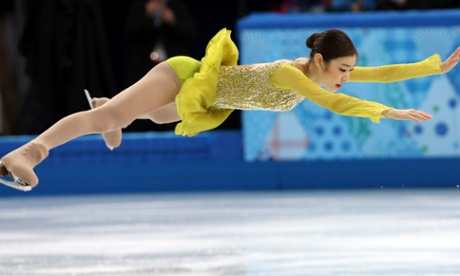 Yuna Kim of South Korea performs during the women's short program at the 2014 Winter Games.