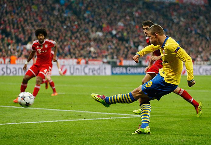 sport -: Bayern Munich v Arsenal - UEFA Champions League Second Round Second Leg