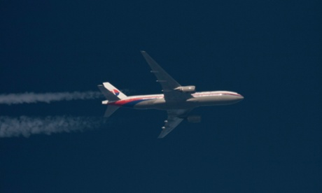 A jet like this: Here's a Boeing 777 Malaysia Airlines jet, with the registration number 9M-MRO, flying over Poland last month, on 5 February, 2014.