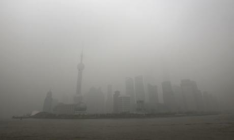 Heavy smog in Shanghai