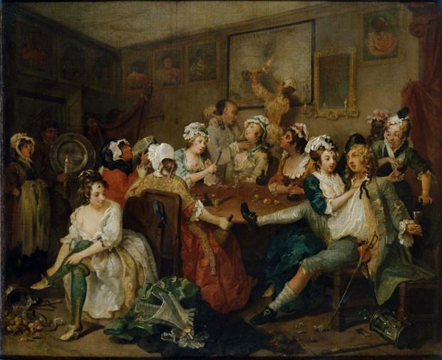 William Hogarth Rake's Progress Orgy