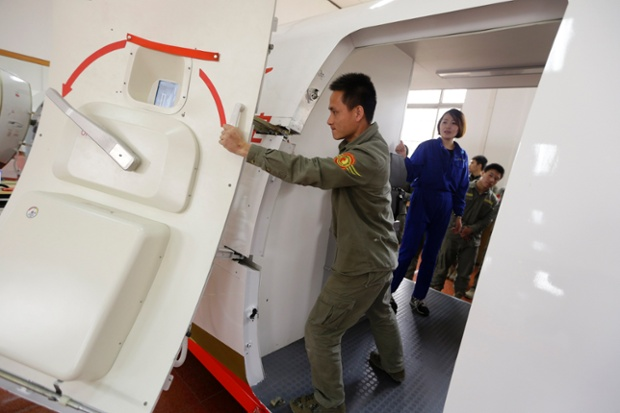 A flight attendant safety training course  in pictures  World news  The Guardian