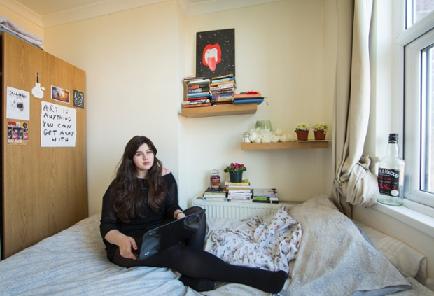Rosie Parry in her bedroom in south London.